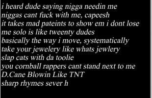 "D.Cane ""Dead Haters"" (Lyrics) (Lil Wayne)"