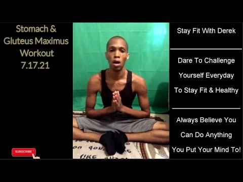 Stomach & Gluteus Maximus Workout 7 17 21